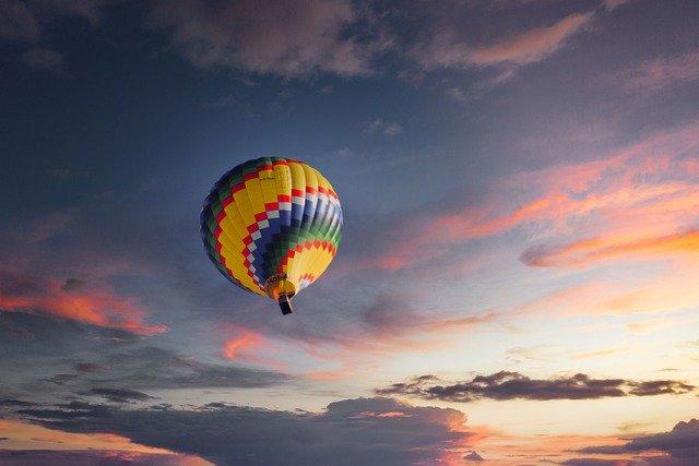 Travel by hot air balloon